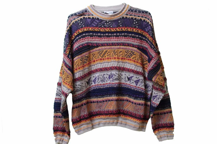 80s Hipster Geometric Sweater