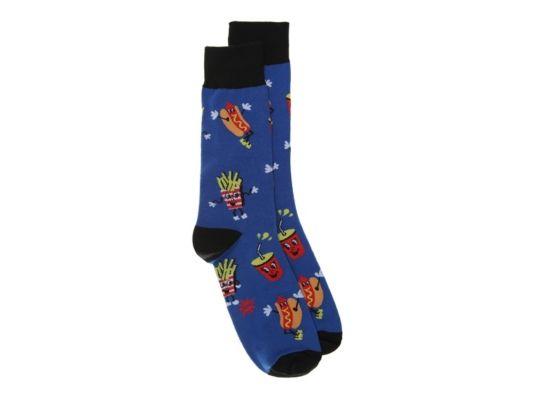 Men's Men Food Fun Dress Socks -Cobalt - Cobalt