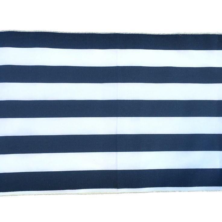 Navy Striped Table Runner