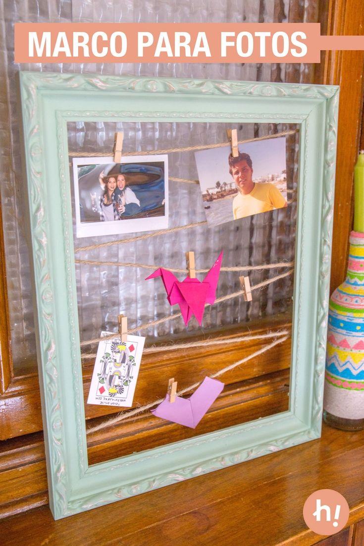Las 25 mejores ideas sobre colgar fotos en pinterest fotos colgantes decoraci n de la pared - Marcos de fotos para colgar ...