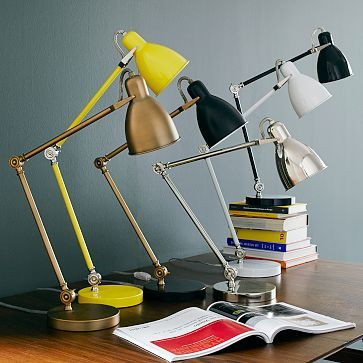 Industrial Task Table Lamps. yellow for the bedroom