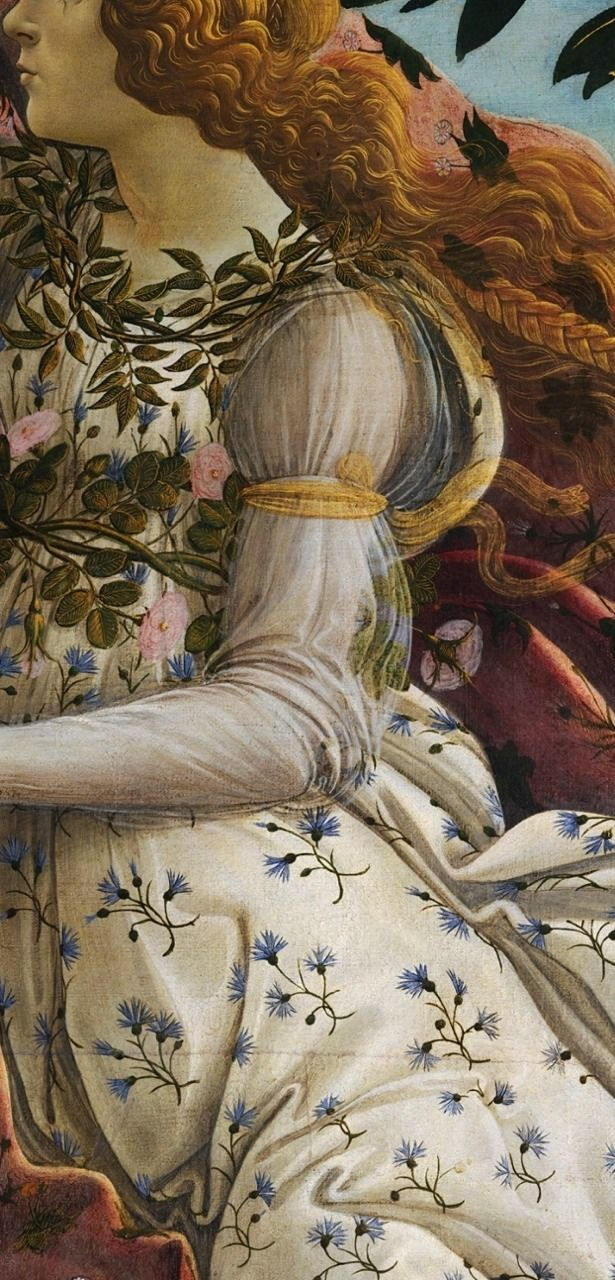 "tierradentro:  Detail from Botticelli's ""The Birth of Venus""."