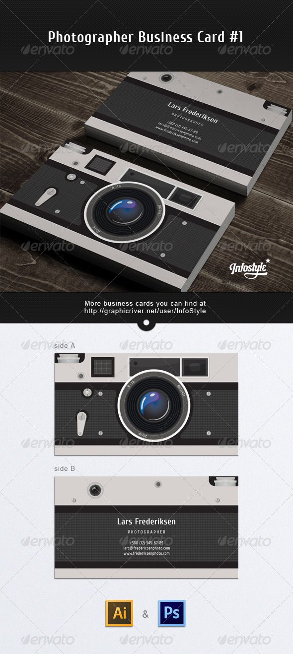 premade Photographer Business Card - GraphicRiver Item for Sale