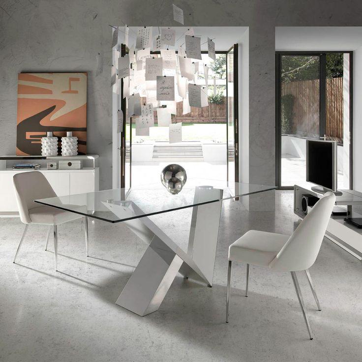 mesa de comedor moderna zenda glass demarqueses