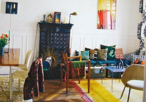 French Bohemian Decor | Decor_Bohemian-Luxe-Faves-or Gezellig