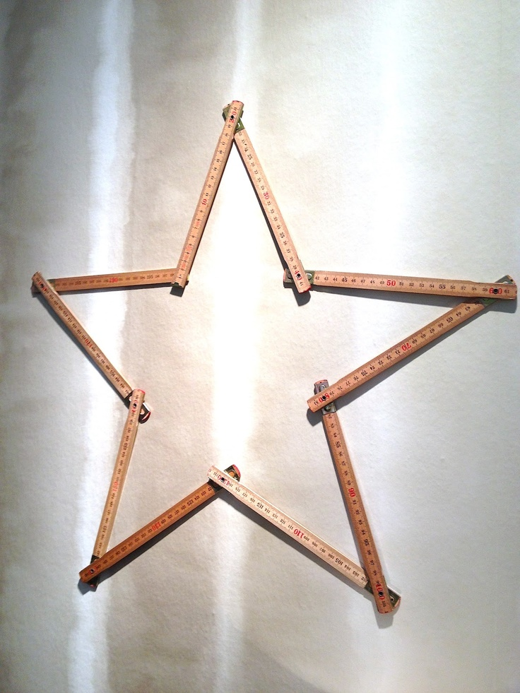 Christmas star out of a folding rule | Xmas decoration . Weihnachtsdekoration . décoration noël | @ & SUUS |