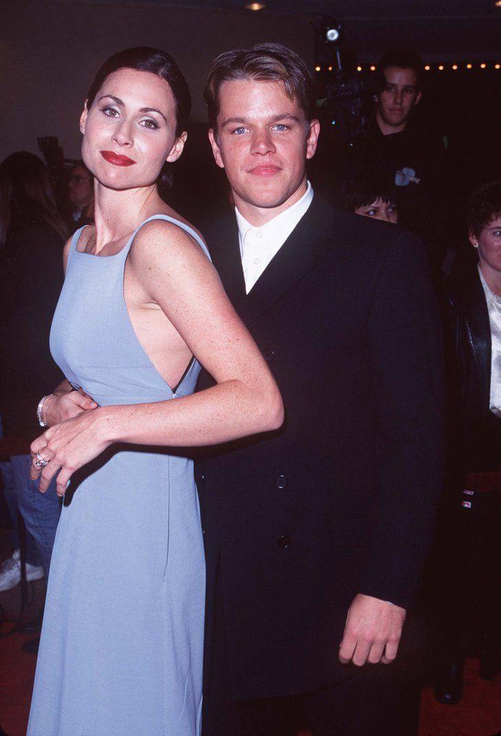 Pin for Later: Retour Sur la Fois où Ces Couples de Célébrités Se Sont Affichés en Public Pour la Première Fois Minnie Driver et Matt Damon en 1997