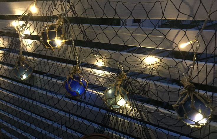 I made nautical lights to my teracce