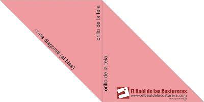 3.-Una los orillos de tal forma que las diagonales queden paralela una a la otra.