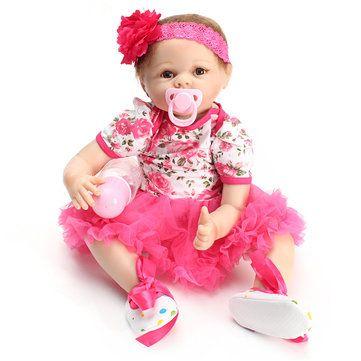 Newborn Dolls <b>55cm</b> Realistic Silicone Vinyl Reborn Babies <b>22 Inch</b> ...