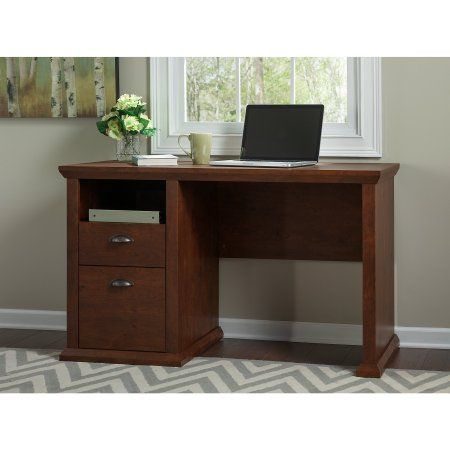 Bush Furniture Yorktown Home Office Desk In Antique Cherry Box 1