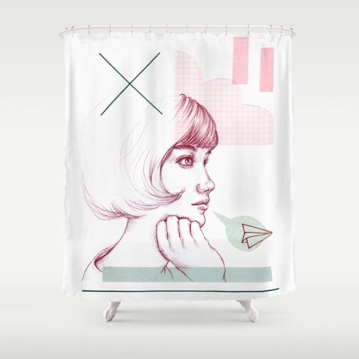 Классная девушка душ занавес Лаура О'Коннор | Society6