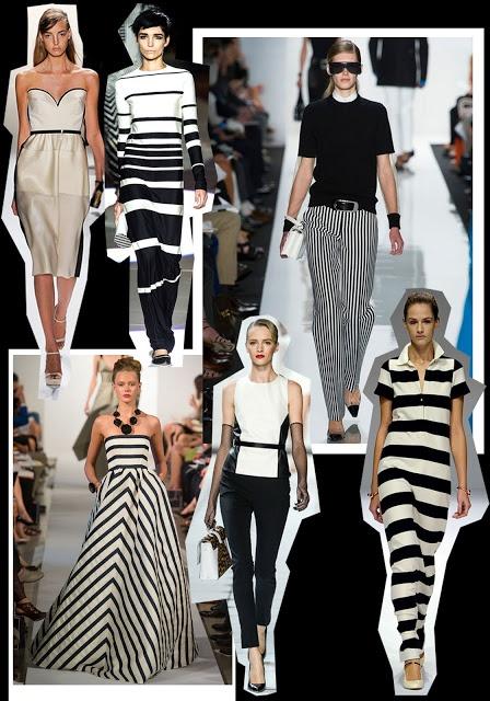 2013 Fashion Trends Monochromatic Stripes