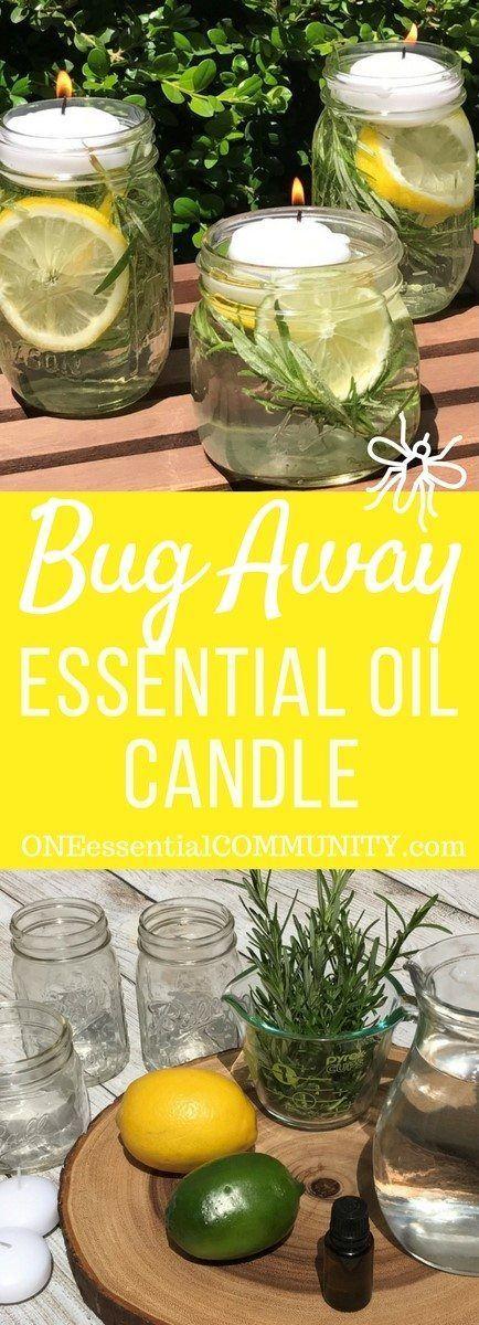 "DIY ""Bug Away"" Essential Oil Candles keep mosqui…"