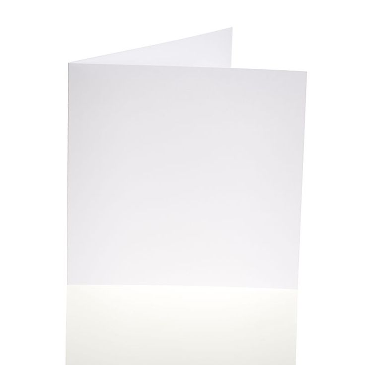 Hobbycraft Smooth Blank Cards and Envelopes In White 50 Pack 6 x 6 In