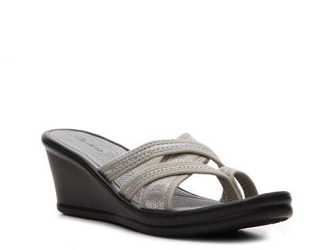 Skechers Womens Home Run Wedge Sandal Skechers Dsw