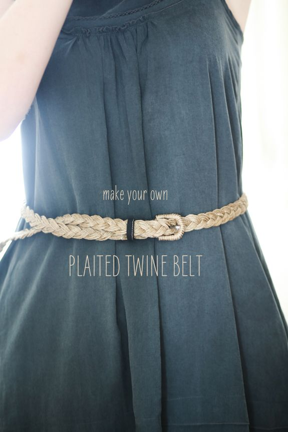 Make your own plaited twine belt.: Projects, Diy Belts, Fashion Diy, Braids, Twine Belts, Diy Clothing, Belts Diy, Crafts Activities, Plaits Twine
