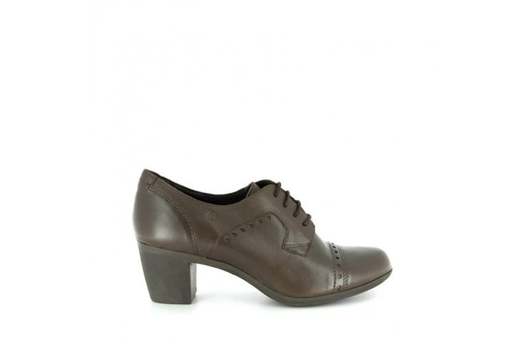 Cora 3008 Matt Fango - Laced up shoes in real leather. Rubber sole, heel 5,5 cm high.