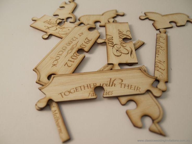 Classic Wedding Invitations | Wedding invitations- Laser cut puzzle