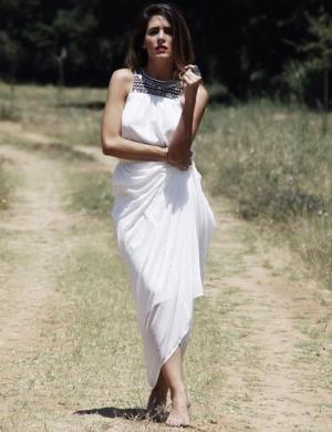 Rocio Osorno Vestido blanco largo