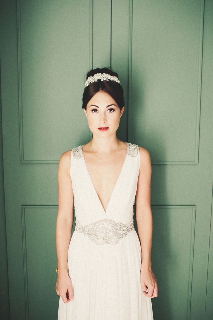 Bride wears 'Daphne' by Jenny Packham | Bride and Groom from an Elegant September Wedding at Clandon Park House | Images by http://www.marshalgrayphotography.com/
