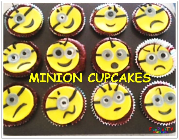 FunPlayTV presents Minions Cupcake Toppers using Play Doh. Please SUBSCRIBE to our kid friendly channel https://goo.gl/fZjblu  Using Play-Doh, we provide a tutorial on how to create Minions that can be used for cupcake toppers. This video shows how easy it it to make Dave and Lance from the movie Minions. You can use this method on edible fondant to make your cupcake toppers.  The minion featured in this video is Tom Googly Eyes Grabber from McDonalds Happy Meal Despicable Me2 Collection.