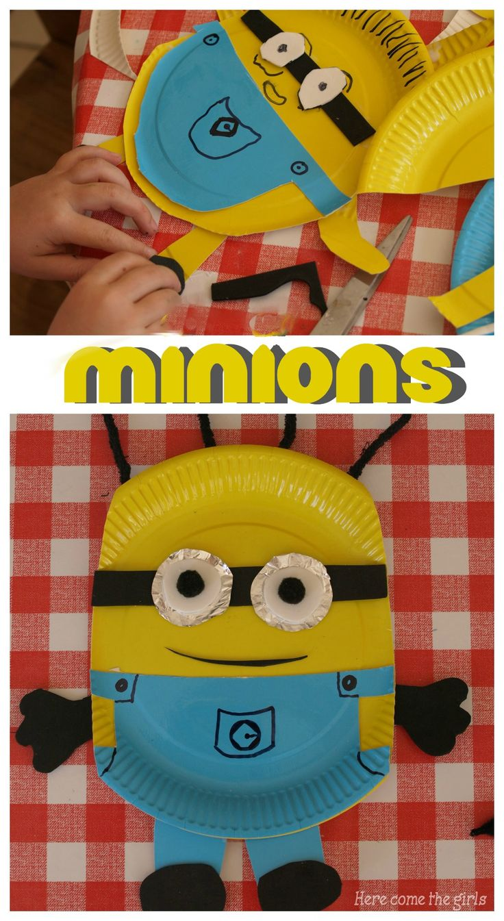 Paper plate Minion craft for kids
