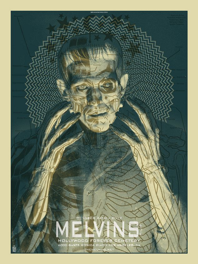 Gig posters by Brian Edwin
