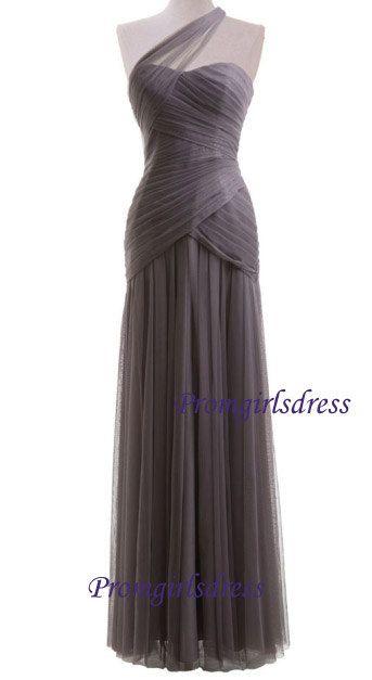 Bridesmaid Dress Long Bridesmaid Dress Grey by Promgirlsdress, $109.00