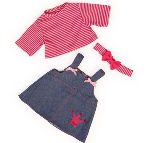 Bayer Design 83853 - Kleidung für Puppen circa 38 cm, Jeanskleid mit Shirt und Stirnband Bayer Design http://www.amazon.de/dp/B00CAAOQHG/ref=cm_sw_r_pi_dp_v-fAub13BXXNY