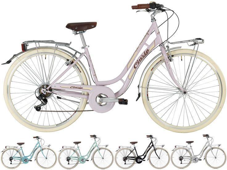 28 Zoll Cinzia Mia Damen City Fahrrad 6 Gang Fahrräder Cityräder Damen Cityräder