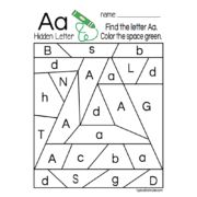 Hidden Letters A-Z -- Includes 26 pages, one for each letter of the alphabet -- download and print to use