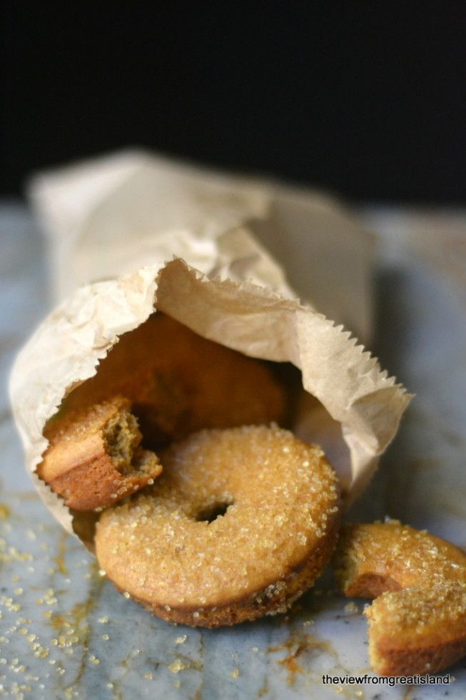 Cider Spiced Doughnuts --- baked, not fried