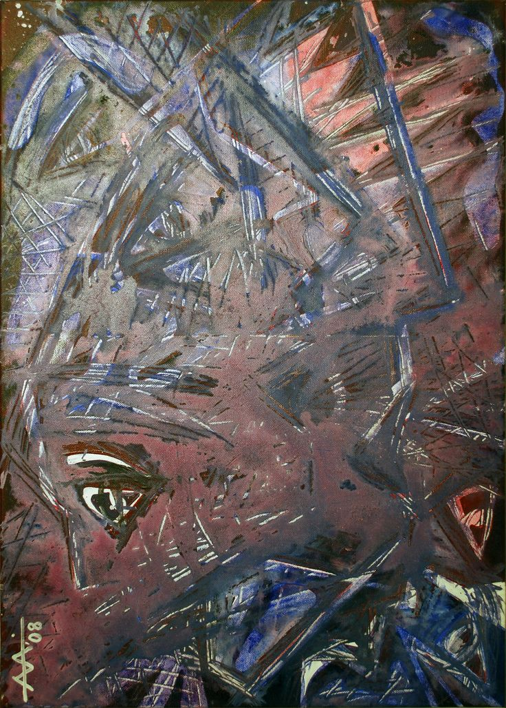 """""""Scream-Act 2""""  Experimentation.Acrylic on canvas 50/70cm (2008) Created by Anda Anastasopoulou https://www.facebook.com/Andapainting2015   https://plus.google.com/104006191383272659096/posts"""