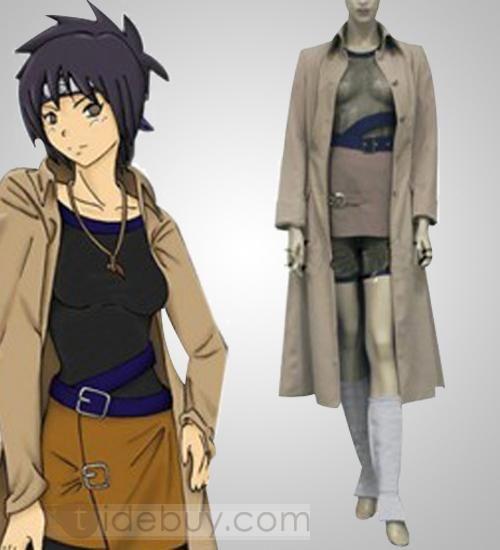 Buy Naruto Anko Mitarashi Camel Single-breasted Wind Coat Cosplay Costume : Tidebuy.com