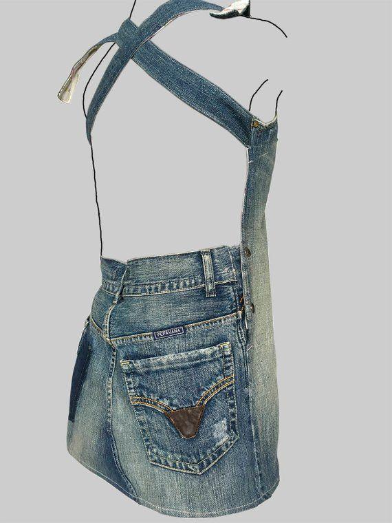 jeans dress \'dokjurk\', loose fit, A-line shape | vestidos | Jeans ...