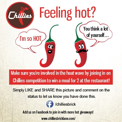 Chillies Facebook competition