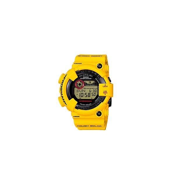 G-Shock Frogman 30th Anniversary GF-8230E-9ER - This Lightning Yellow model is the final addition to the collection of model marking the G-SHOCK 30th anniversary. The special color of this final commemorative model honors the special relationship that G-SHOCK has shared with youth culture throughout its existence. It represents the impact that the G-SHOCK has long exerted on the timepiece world, like a bolt of lightning.Base model for this collection is the GF-8250 (FROGMAN), which is the…