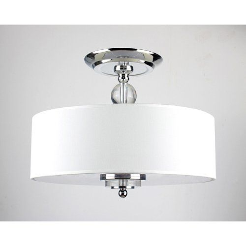 $88 - 3 Light Crystal Decorated Off-White Shade Flushmount Ceiling  Chandelier Jojospring - 20 Best Flush/Semi Flush Mount Lighting Images On Pinterest