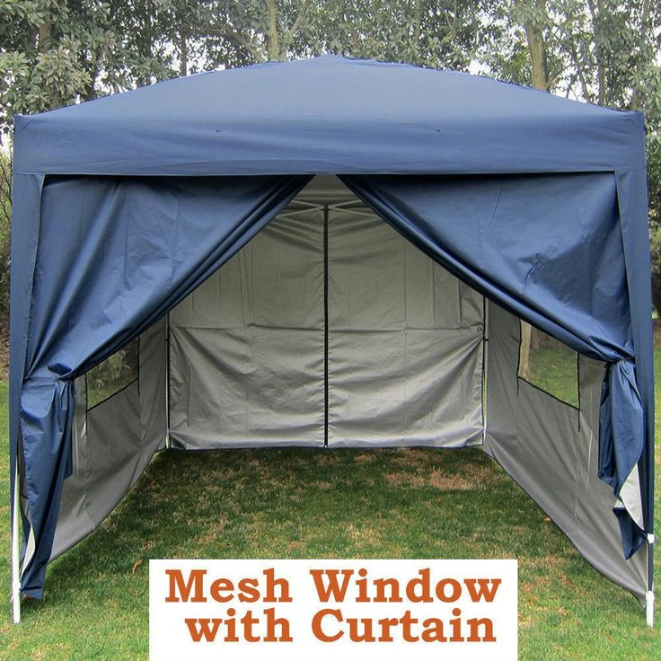 Quictent Privacy 8'x8' Blue EZ Pop Up Party Tent Canopy Gazebo Screen Curtain 100% Waterproof * Want additional info? Click on the image.