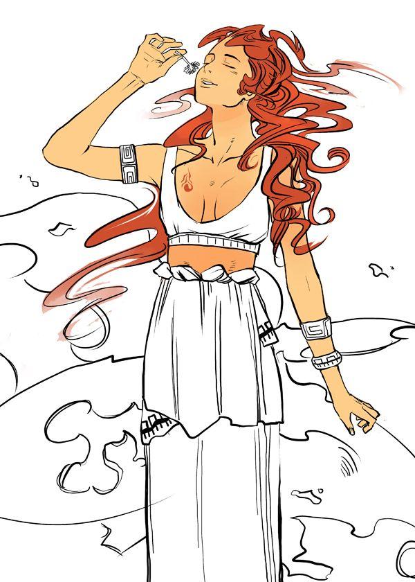 Hestia. Goddess of the Hearth. The Virgin Goddess. Artist: Cassandra Jean