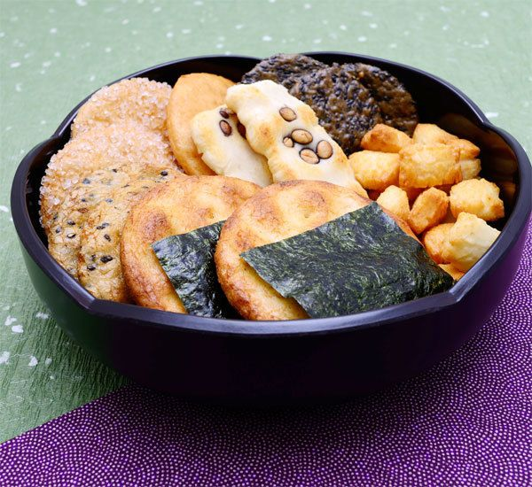 Homemade Senbei Rice Crackers - sub coconut aminos for soy sauce