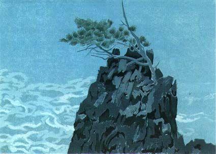 東山魁夷 松と岩