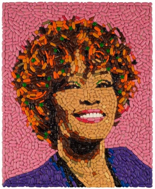 Whitney Houston made of pills