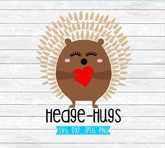 Valentine Svg Files Hedge Hugs Hedgehog Valentine Svg Etsy Valentine Svg Files Valentines Svg Valentine