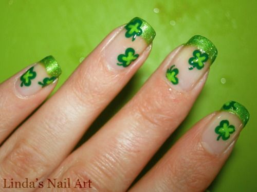 cute st. patrick's day nails!