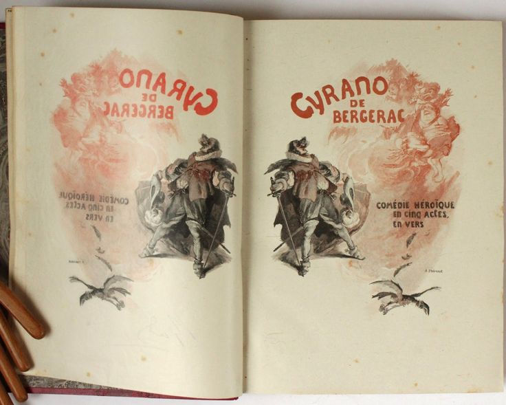 001 -April 1st 1868 -Rostand, Edmond -French poet and dramatist Edmond Rostand, well known for his play Cyrano de Bergerac. (photo 1 : edition 1910 -photo 2 : first illustrated edition of 1899) When he was twenty-two years old, he married the poet,...