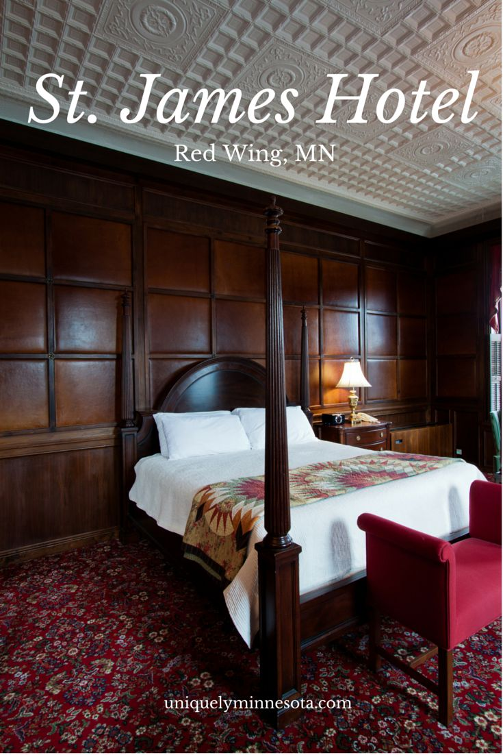 Once a busy hotel for businessmen, the historic St. James Hotel today offers a quiet getaway in the river town of Red Wing, MN. Plan a romantic weekend or an active getaway, and enjoy the hotel's onsite dining, shops and relaxing spa.