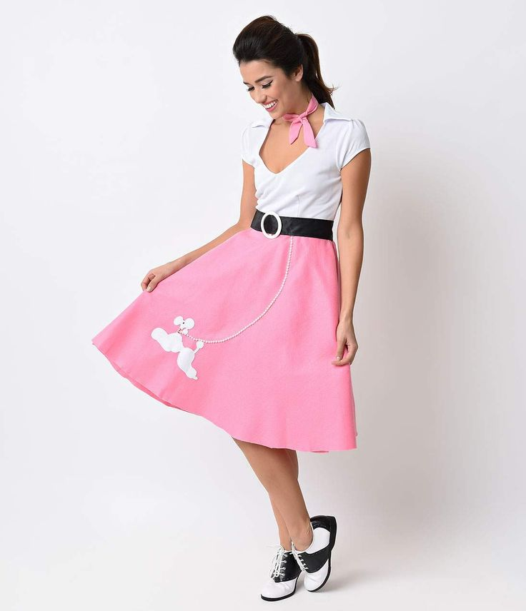 Fun Costumes Poodle Skirts Monroe Grease Pin Up