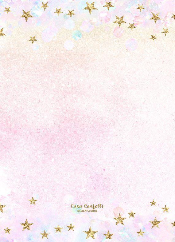 magical birthday invitation pastel